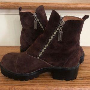 Harley Davidson Brown Suede Boots